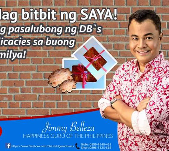 Happiness Guru Jimmy Belleza loves DB's Pastel Royal Bibingka