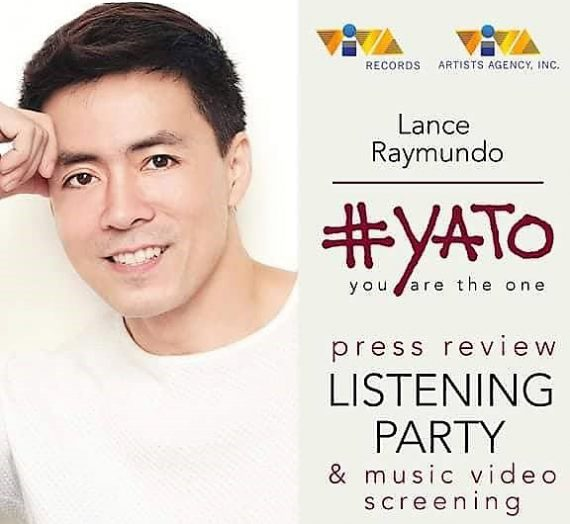 Lance Raymundo launches #YATO (You Are The One)
