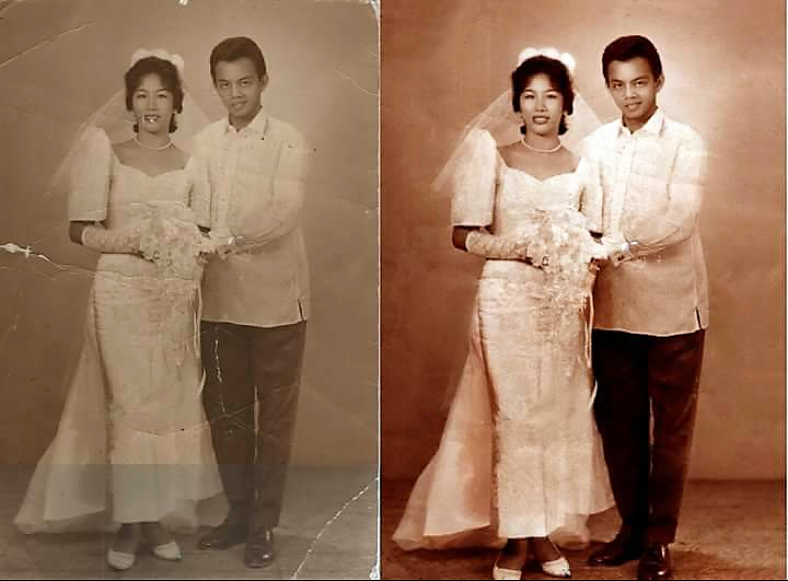 Mom and Dad's wedding photo
