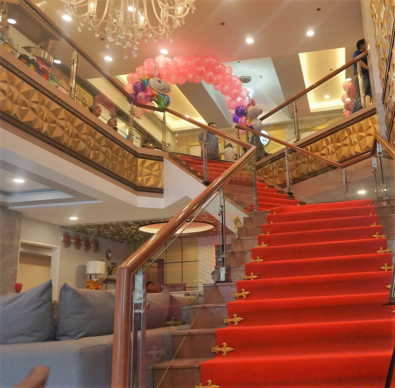 Elegant staircase leading to the 2nd floor