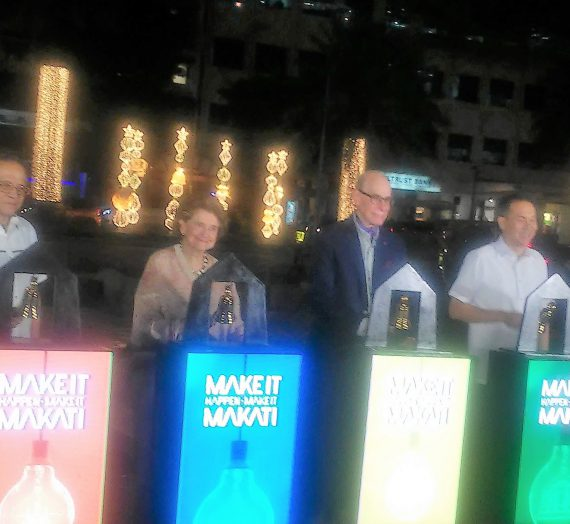 Makati City and Ayala Land, Inc. light up street for annual Christmas tradition