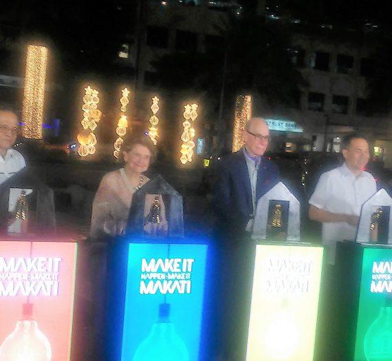 Makati City and Ayala Land, Inc. light up street for annual Christmas tradition
