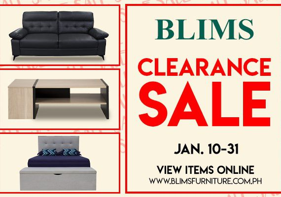 Blims Clearance Sale from January 10-31, 2020