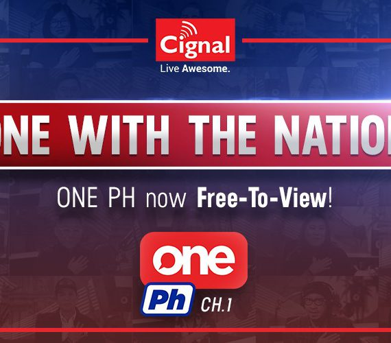 One PH now Free-to-view to all current and old subscribers of Cignal