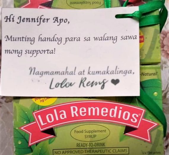 Thank you, Lola Remedios
