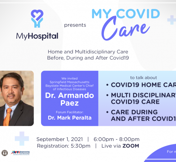 FREE Webinar on MyCovid Care (Home and Multidisciplinary Care)  Before, During and After Covid-19 on September 01, 2021